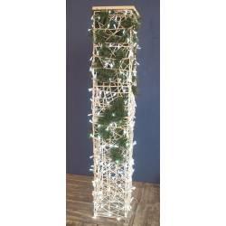 "Columna decorada ""luz led"""