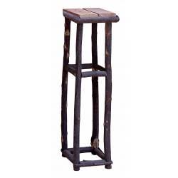 Pedestal palo de castaño y ladrillos