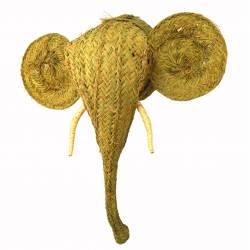 Cabeza de elefante esparto grande