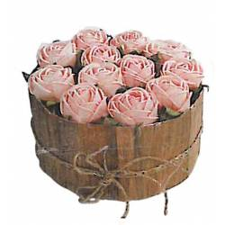 Centro de rosas color rosa