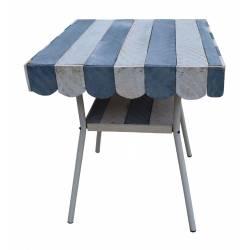 Mesa madera e hierro