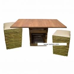 Mesa con taburetes
