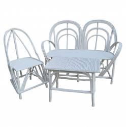 Sofa palo castaño color blanco