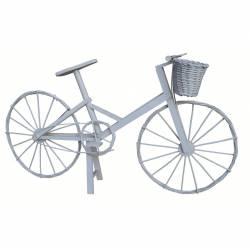 Bicicleta mimbre color blanco