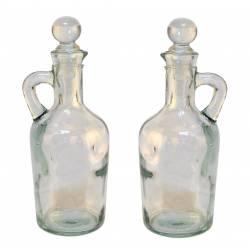 Set de 2 vinagreras de vidrio (4042/3)