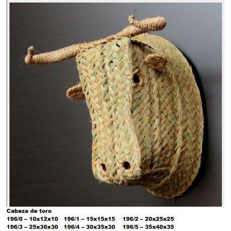 Cabeza de toro esparto