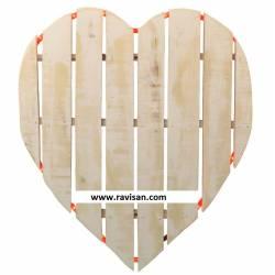 Corazón madera con luz