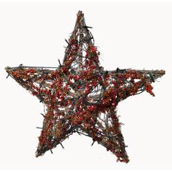 Estrella pared bayas con luz