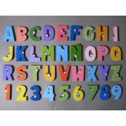 Letras y números sueltos