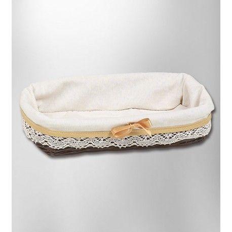 Bandeja de baño rectangular mimbre