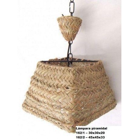Lámpara piramidal esparto