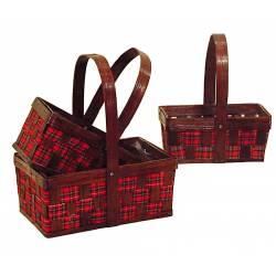 Juego 3 cestas con tela