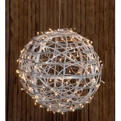 Bola blanca con luces led