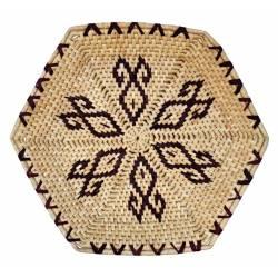 Plato exagonal de maiz