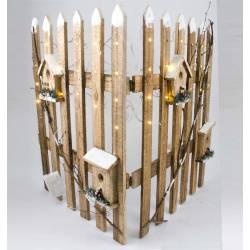 Valla madera con luz