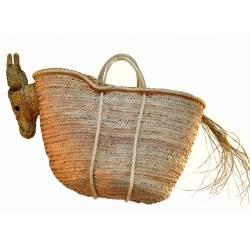 Bolso palmito con cabeza de burro