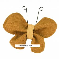 Mariposa tela de yute