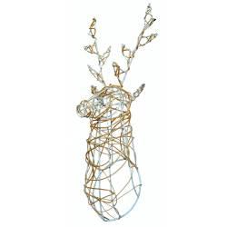Trofeo cabeza ciervo natural