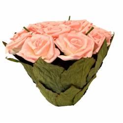 Centro rosas rosas