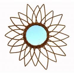 Espejo flor de mimbre (Luna envejecida)