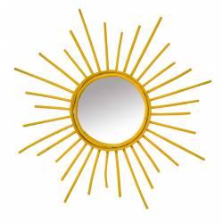 Espejo color amarillo