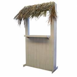 Caseta de playa madera y palma