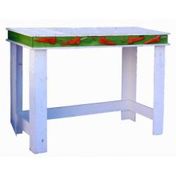 Mesa decorada con zanahorias