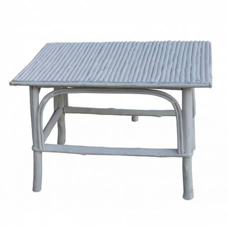 Mesa palo castaño color blanco