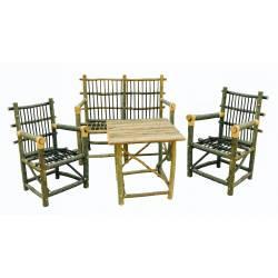 Conjunto muebles palo castaño