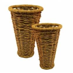 Set 2 floreros cuerda
