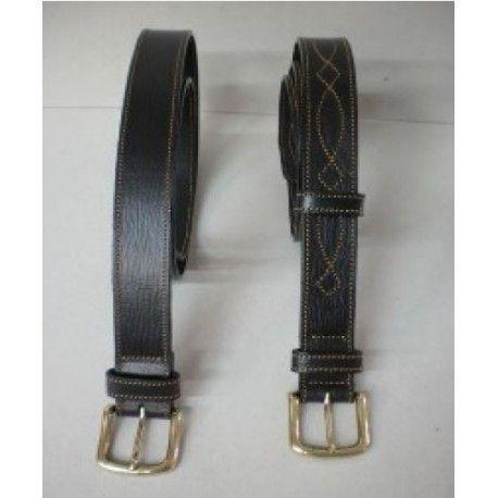 Cinturón Cuero Oscuro Liso