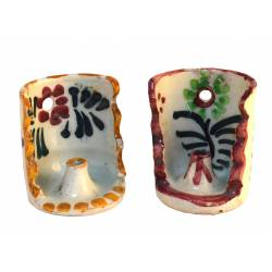 Portavela cerámica (Diseños diferentes)