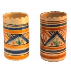 Juego de 12 vasos cerámica