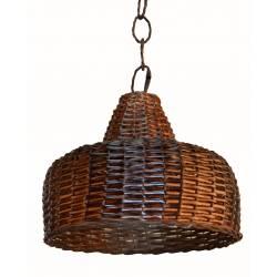 Lámpara color nogalina con instalación