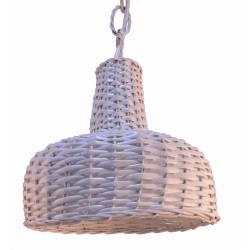 Lámpara blanco roto con instalación