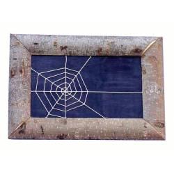Cuadro de tela de araña rectangular