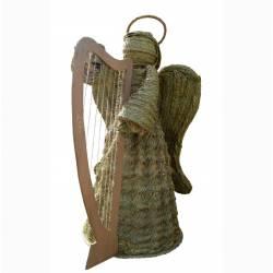 Ángel esparto con arpa