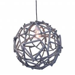 Bola gris con instalación