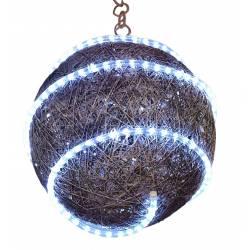 Bola sisal con luz blanca