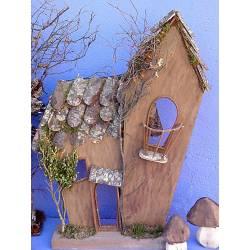 Casa de madera sin luces