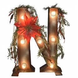 Letra Navidad con luz (No incluye bombillas)