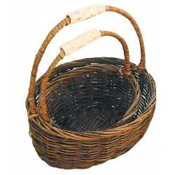Juego dos cestas asas cerámica