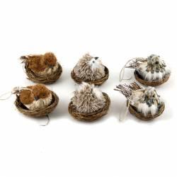 Set 6 nidos con pájaro surtidos