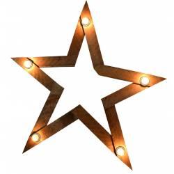 Estrella nogal con luz (sin bombilla)