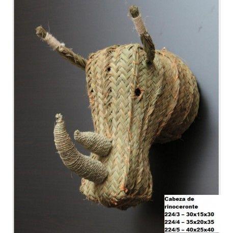 Cabeza de rinoceronte esparto