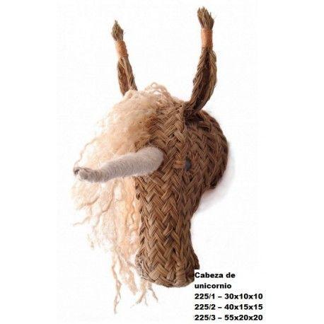 Cabeza de unicornio esparto