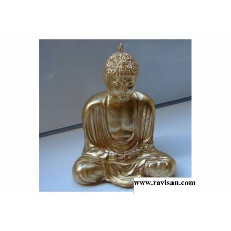 Vela Buda de Oro sentado 12 cm