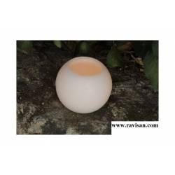 Fanal Esfera 12 cm. Blanca