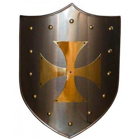 Escudo Cruz Templaria Latón