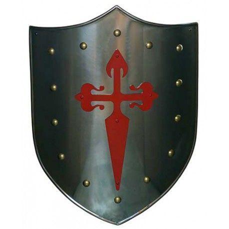 Escudo Cruz Santiaguista Roja